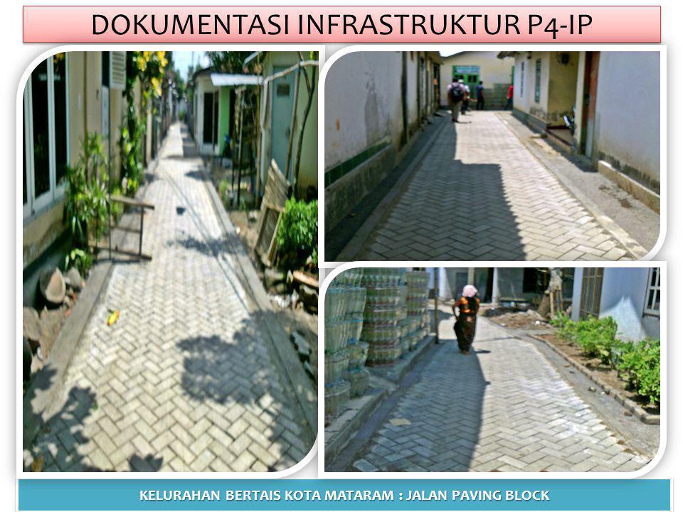 DOKUMENTASI INFRASTRUKTUR P4-IP KELURAHAN BERTAIS KOTA MATARAM : JALAN PAVING BLOCK