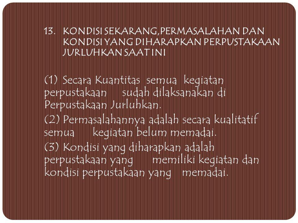 3. PELAKSANAAN KEGIATAN UNSUR 6 KEGIATAN PERPUSTAKAAN: 1) Pendidikan 2) Pengorganisasian & Pendayagunaan Koleksi Bahan Pustaka 3) Pemasyarakatan Perpu