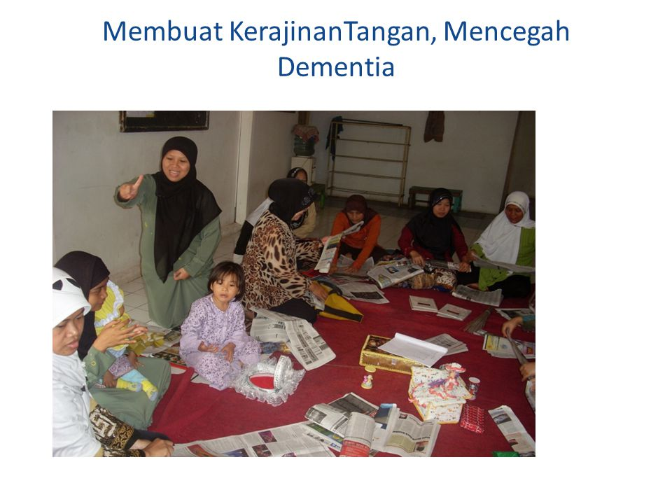Membuat KerajinanTangan, Mencegah Dementia