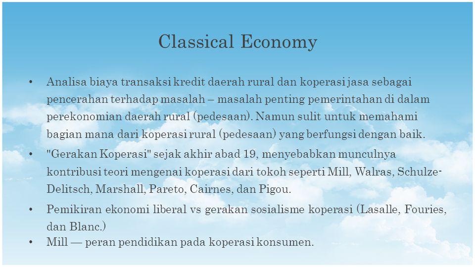 Analisa biaya transaksi kredit daerah rural dan koperasi jasa sebagai pencerahan terhadap masalah – masalah penting pemerintahan di dalam perekonomian daerah rural (pedesaan).