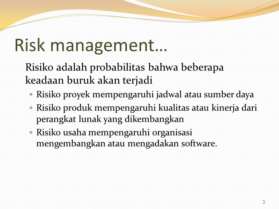 Example: Software risks 4