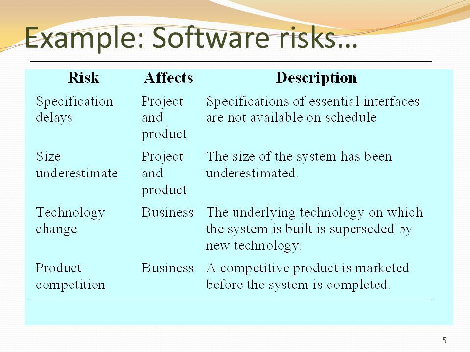 Risk planning Pertimbangkan setiap risiko dan mengembangkan strategi untuk mengelola risiko itu.