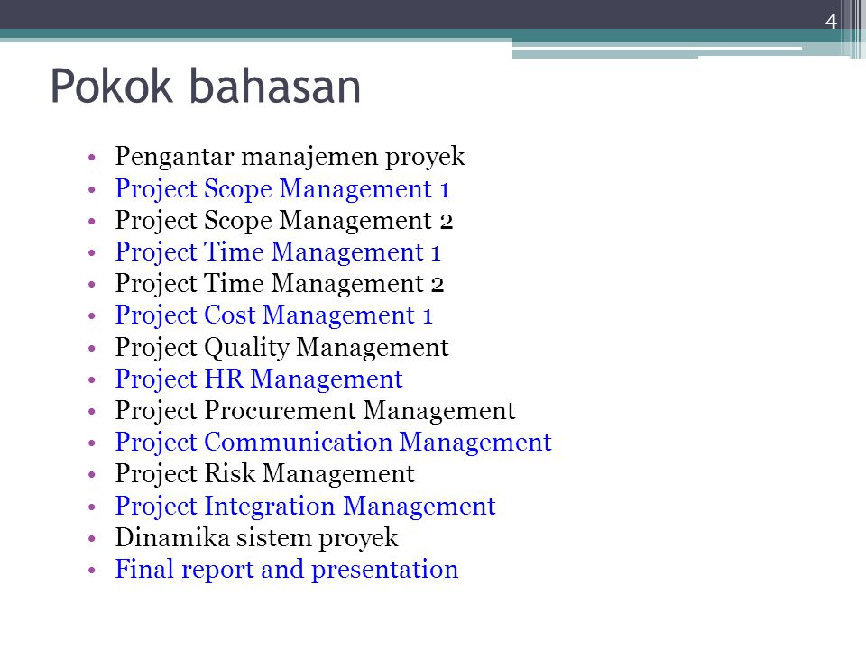 Quality Management Quality planning Quality assurance/ penjaminan mutu Quality control