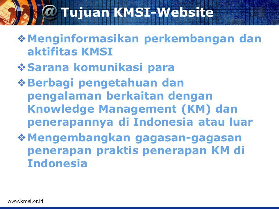 KMSI - Website www.kmsi.or.id Group: Knowledge Management Society - Indonesia (KMSI)