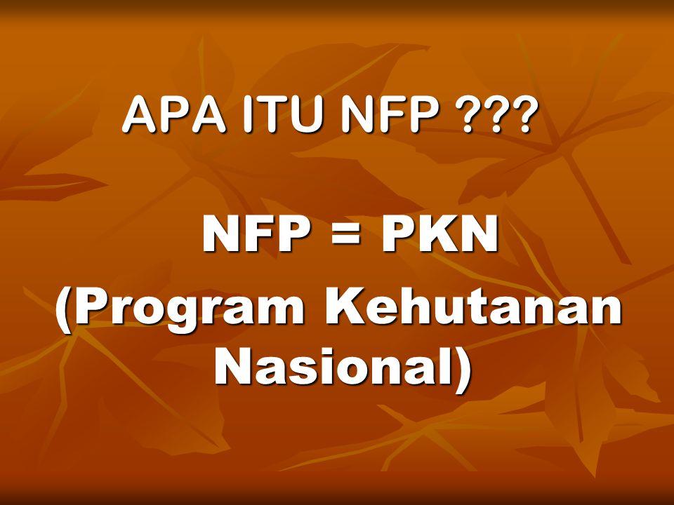 APA ITU NFP ??? NFP = PKN (Program Kehutanan Nasional)