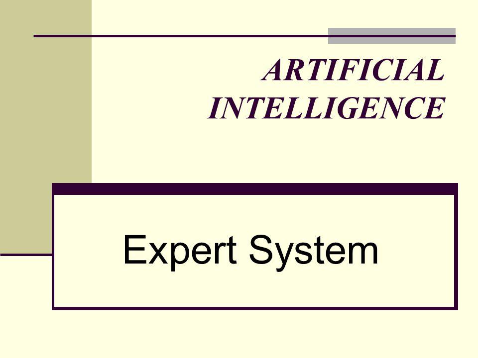 ARTIFICIAL INTELLIGENCE Expert System
