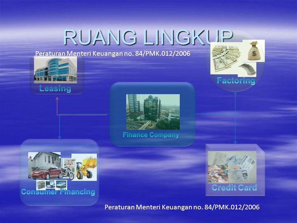 RUANG LINGKUP Peraturan Menteri Keuangan no. 84/PMK.012/2006