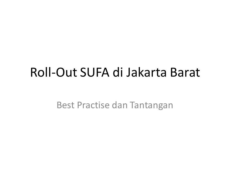 Roll-Out SUFA di Jakarta Barat Best Practise dan Tantangan