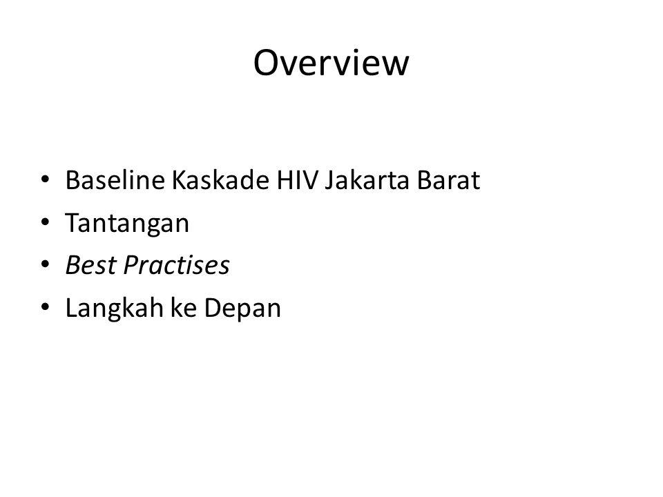 Overview Baseline Kaskade HIV Jakarta Barat Tantangan Best Practises Langkah ke Depan
