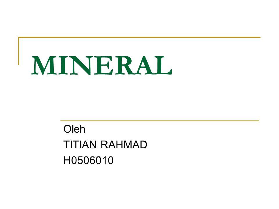 Mineral merupakan senyawa esensial untuk berbagai proses seluler tubuh.