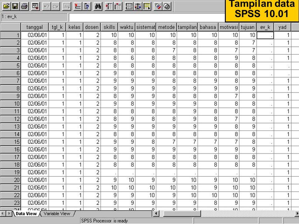 01/Hal.: 2 Tampilan data SPSS 10.01