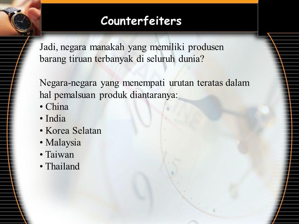 Jadi, negara manakah yang memiliki produsen barang tiruan terbanyak di seluruh dunia? Negara-negara yang menempati urutan teratas dalam hal pemalsuan