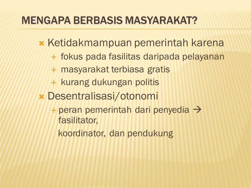 MENGAPA BERBASIS MASYARAKAT.