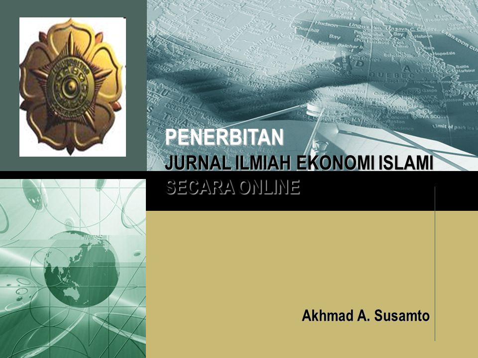 LOGO Akhmad A. Susamto PENERBITAN JURNAL ILMIAH EKONOMI ISLAMI SECARA ONLINE