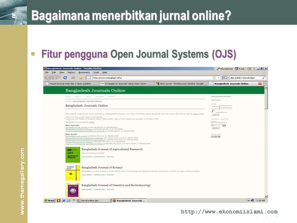 www.themegallery.com Company Logo Bagaimana menerbitkan jurnal online.
