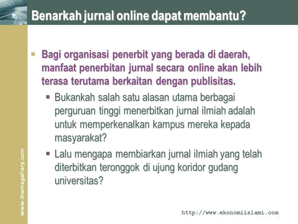www.themegallery.com Company Logo Benarkah jurnal online dapat membantu.