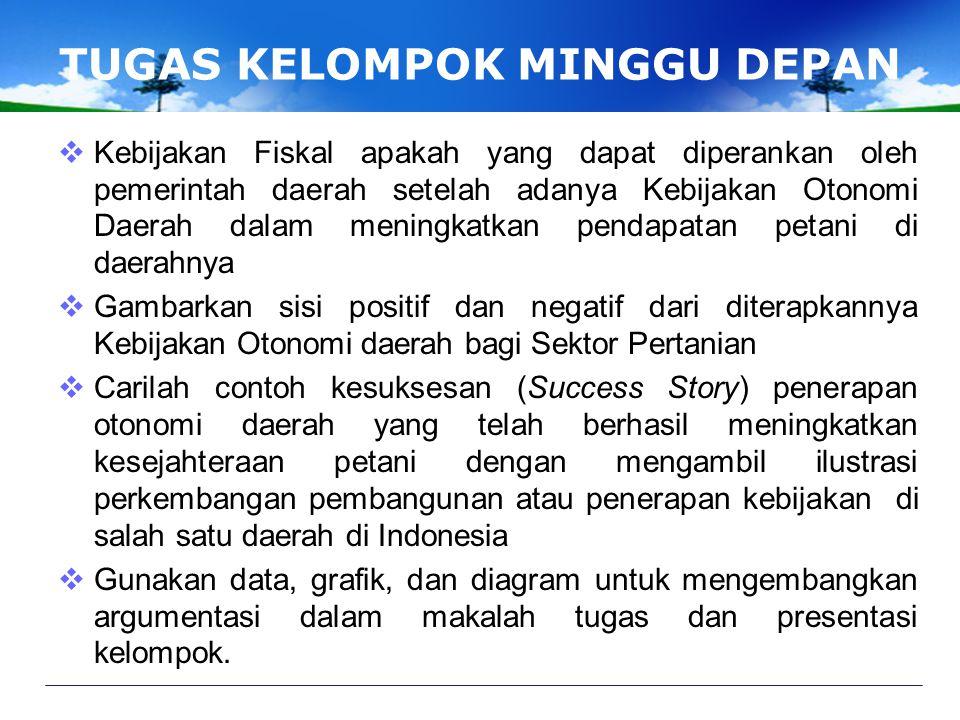 DAMPAK DESENTRALISASI Provinsi 20002006 Pertumbuhan Per Tahun KOTADESAKOTADESAKOTADESA Kepulauan Sumatera12.554.16524.948.78615.661.07527.156.4995,61%