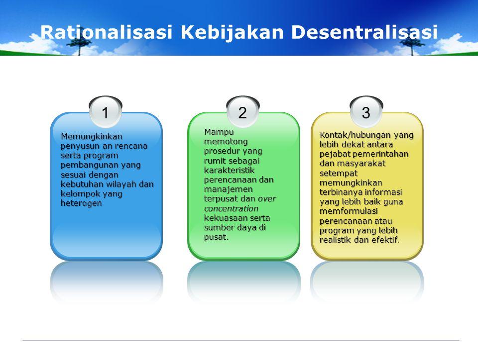 Karakteristik Dasar Unit-unit pemerintahan setempat bersifat otonom, mandiri, dan jelas-jelas sebagai unit pemerintahan bertingkat yang terpisah dari