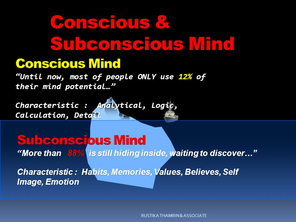 RUSTIKA THAMRIN & ASSOCIATE Conscious & Subconscious Mind