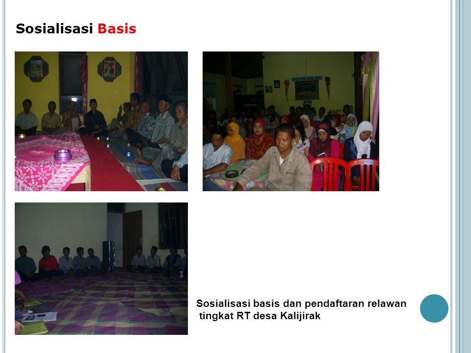 Sosialisasi Basis Sosialisasi basis dan pendaftaran relawan tingkat RT desa Kalijirak