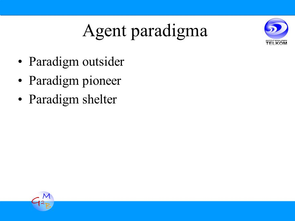 G2G2 M B Agent paradigma Paradigm outsider Paradigm pioneer Paradigm shelter