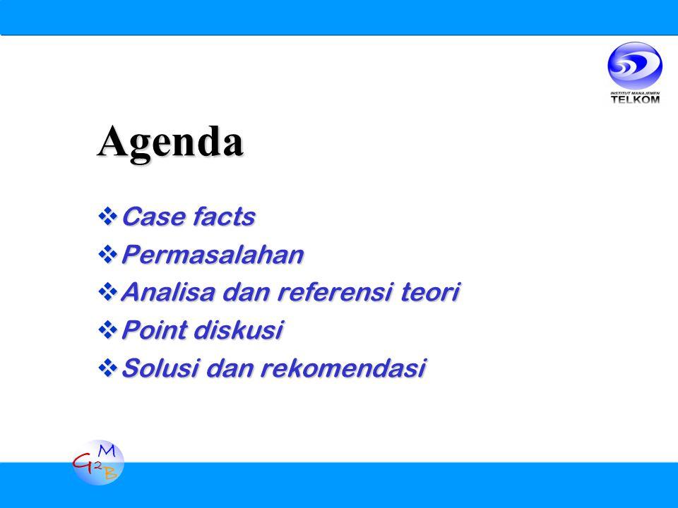 G2G2 M B Agenda  Case facts  Permasalahan  Analisa dan referensi teori  Point diskusi  Solusi dan rekomendasi