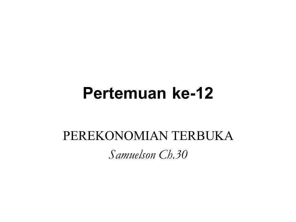 Pertemuan ke-12 PEREKONOMIAN TERBUKA Samuelson Ch.30