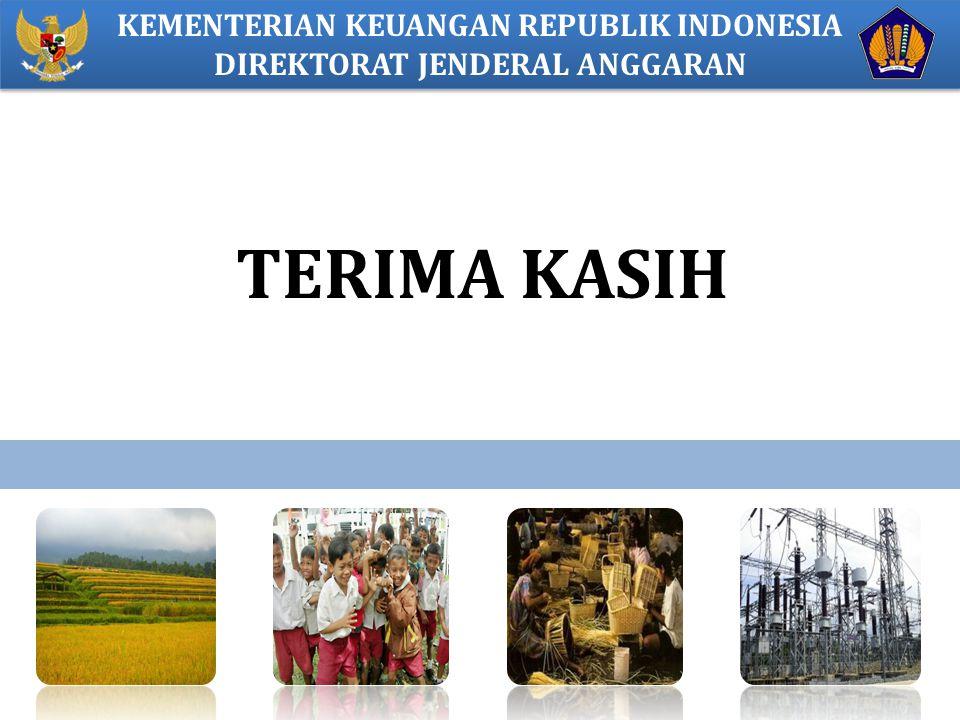 TERIMA KASIH KEMENTERIAN KEUANGAN REPUBLIK INDONESIA DIREKTORAT JENDERAL ANGGARAN