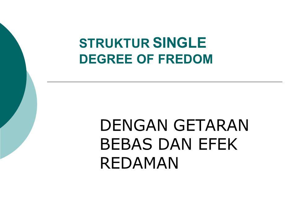 STRUKTUR SINGLE DEGREE OF FREDOM DENGAN GETARAN BEBAS DAN EFEK REDAMAN