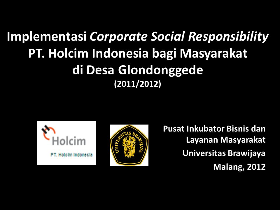 Implementasi Corporate Social Responsibility PT.