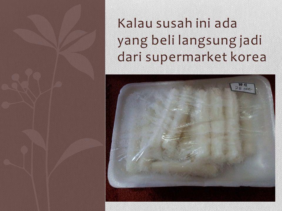 Gochujang adalah bahan utama untuk membuat korean spicy rice cake kita bisa mendapatkannya di supermarket yang menjual produk Impor