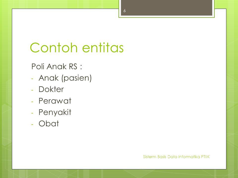 Tipe-tipe Atribut  1.Simple dan Composite attributes  2.