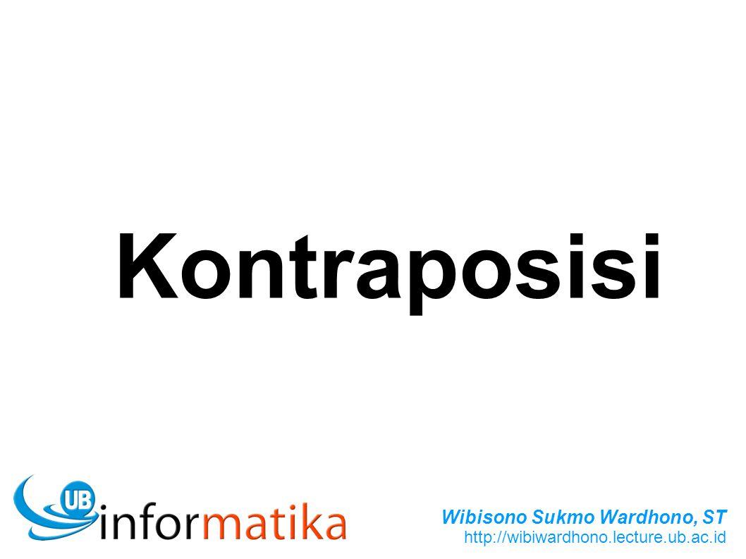 Wibisono Sukmo Wardhono, ST http://wibiwardhono.lecture.ub.ac.id Kontraposisi