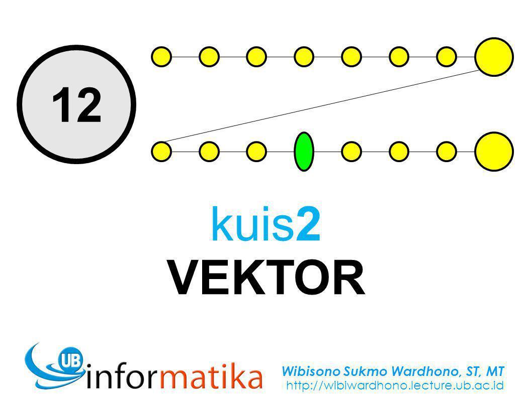 Wibisono Sukmo Wardhono, ST, MT http://wibiwardhono.lecture.ub.ac.id 12 kuis2 VEKTOR