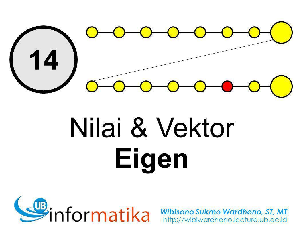Wibisono Sukmo Wardhono, ST, MT http://wibiwardhono.lecture.ub.ac.id 14 Nilai & Vektor Eigen