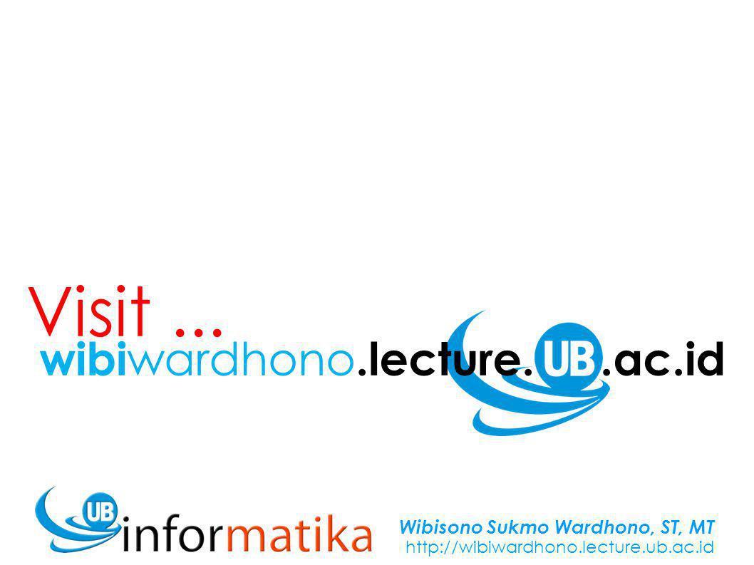 Wibisono Sukmo Wardhono, ST, MT http://wibiwardhono.lecture.ub.ac.id 9 Vektor (Refreshing) Operasi Vektor di R2 & R3