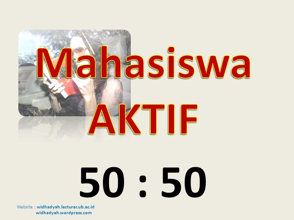Website : widhadyah.lecturer.ub.ac.id widhadyah.wordpress.com 50 : 50