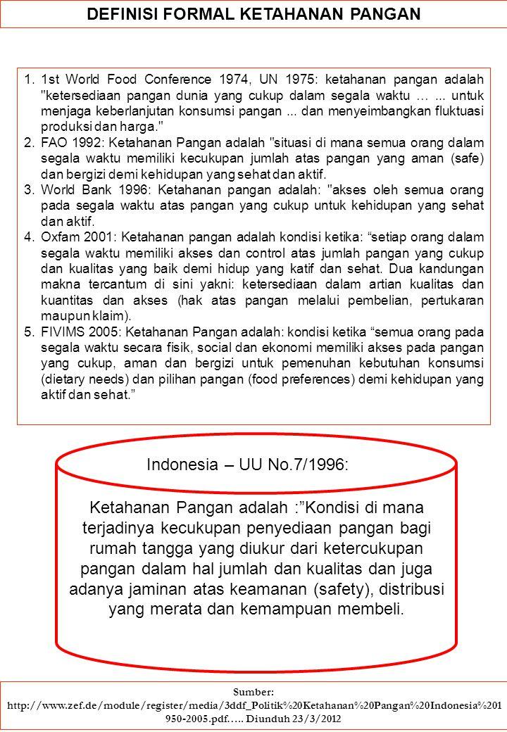 DIVERSIFIKASI PANGAN Konsep diversifikasi pangan bukan suatu hal baru dalam peristilahan kebijakan pembangunan pertanian di Indonesia karena konsep tersebut telah banyak dirumuskan dan diinterprestasikan oleh para pakar.