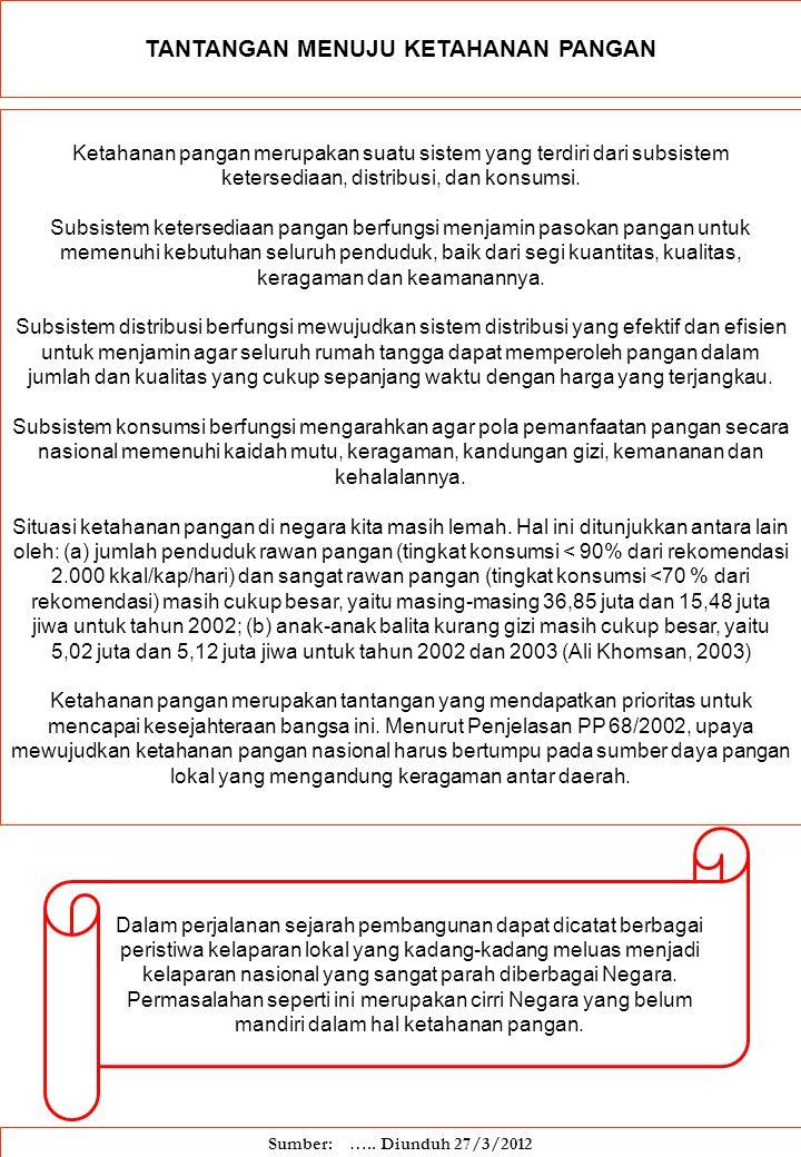 MODAL Keterbatasan dana menjadi salah satu penyebab rapuhnya ketahanan pangan di Indonesia.