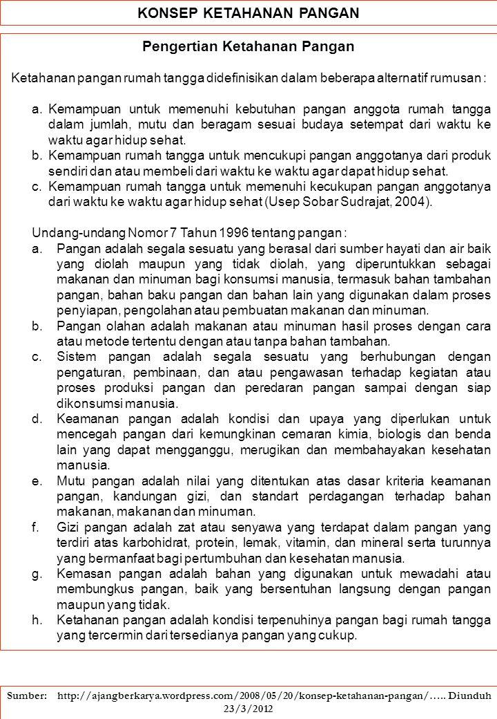 Ketahanan Pangan dan Ketahanan Bangsa Ginandjar Kartasasmita Seminar: Pengembangan Ketahanan Pangan Berbasis Kearifan Lokal Bandung, 26 November 2005 Ketahanan Pangan dan Kemandirian 1.Globalisasi, merupakan tantangan yang harus dihadapi.