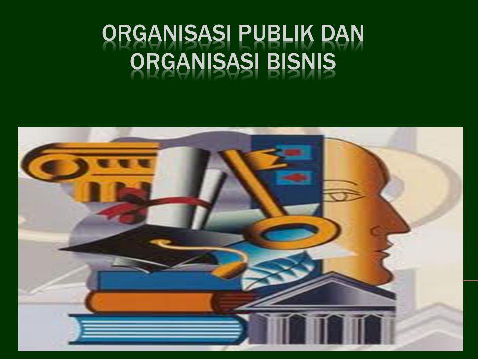 1.Mengenal dan mampu menjelaskan pengertian organisasi publik dan bisnis.