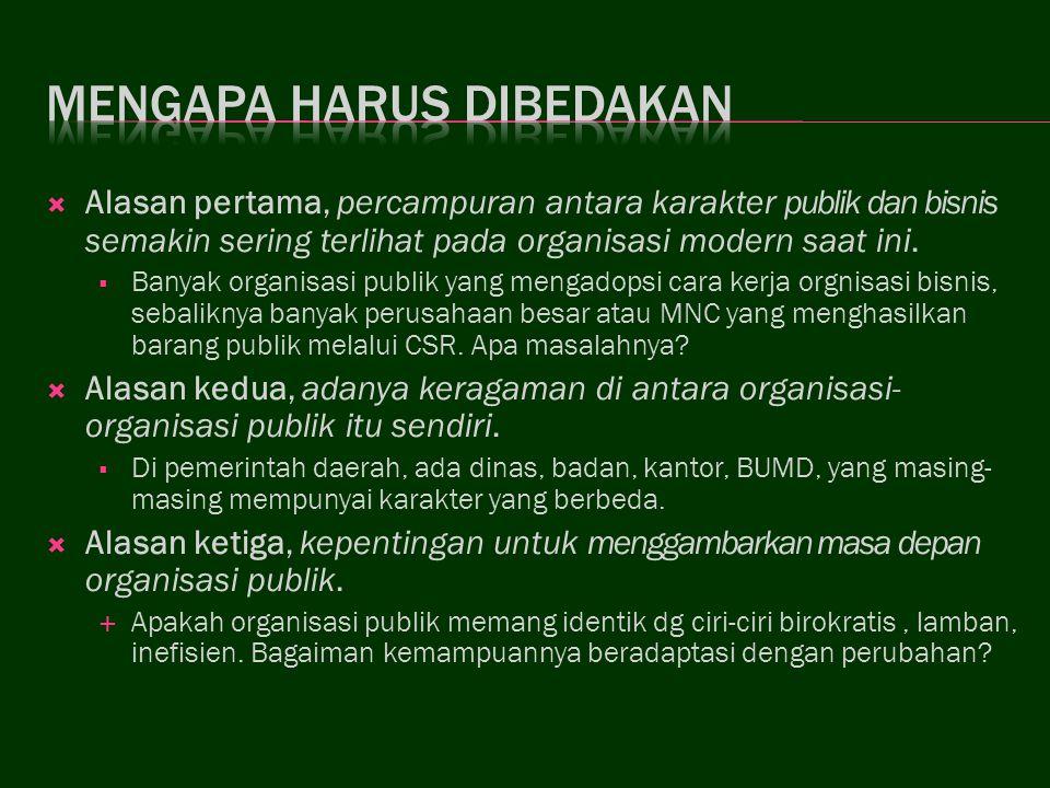 Sebab-sebab Inefisiensi Organisasi Publik 1.