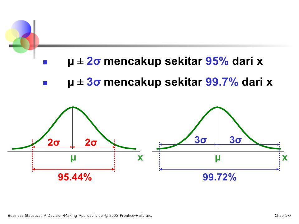 Diastirbusi Normal Standar Juga disebut sebagai distirbusi z Mean = 0 Simpangan baku = 1 z f(z) 0 1 Nilai di atas mean mempunyai nilai z positif Nilai di bawah mean mempunyai nilai z negatif
