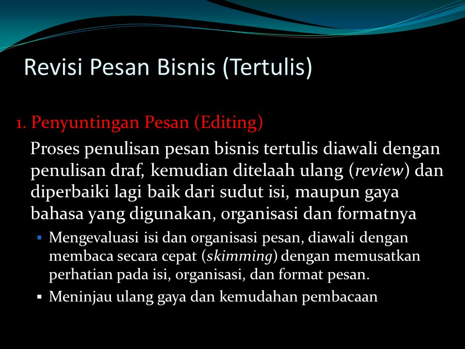 Revisi Pesan Bisnis (Tertulis) 1.