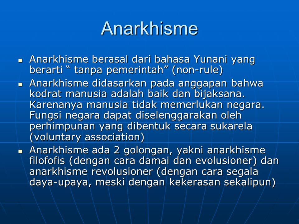 """Anarkhisme Anarkhisme berasal dari bahasa Yunani yang berarti """" tanpa pemerintah"""" (non-rule) Anarkhisme berasal dari bahasa Yunani yang berarti """" tanp"""