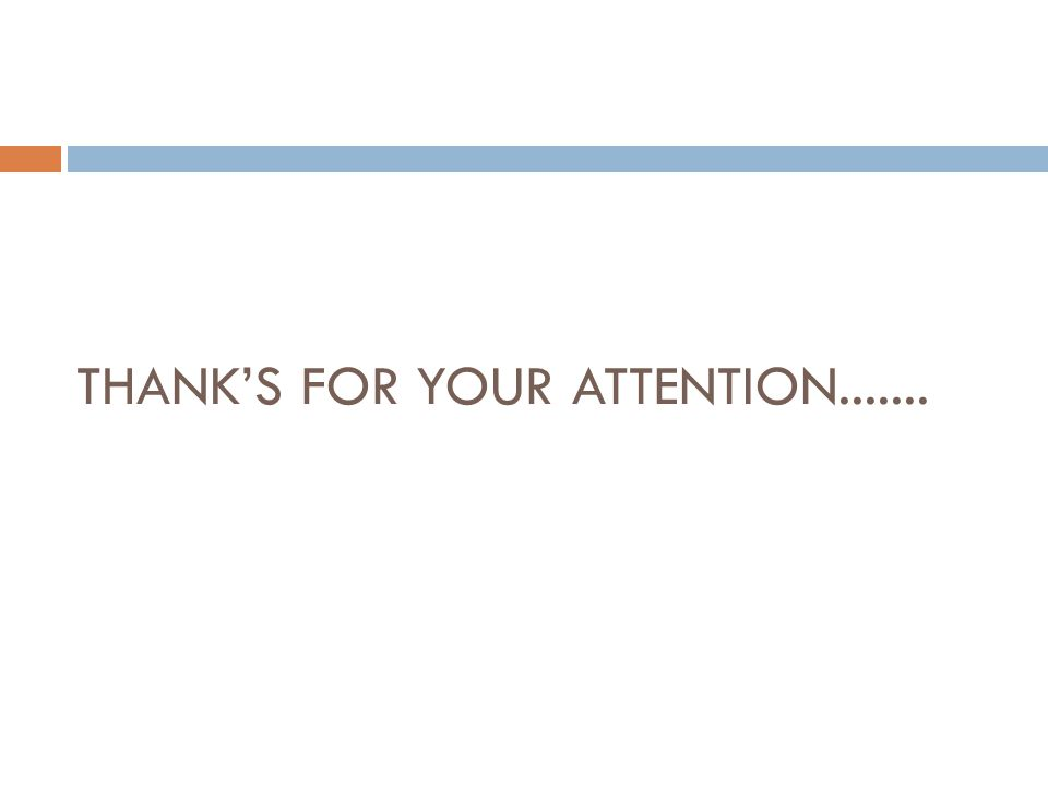 THANK'S FOR YOUR ATTENTION.......