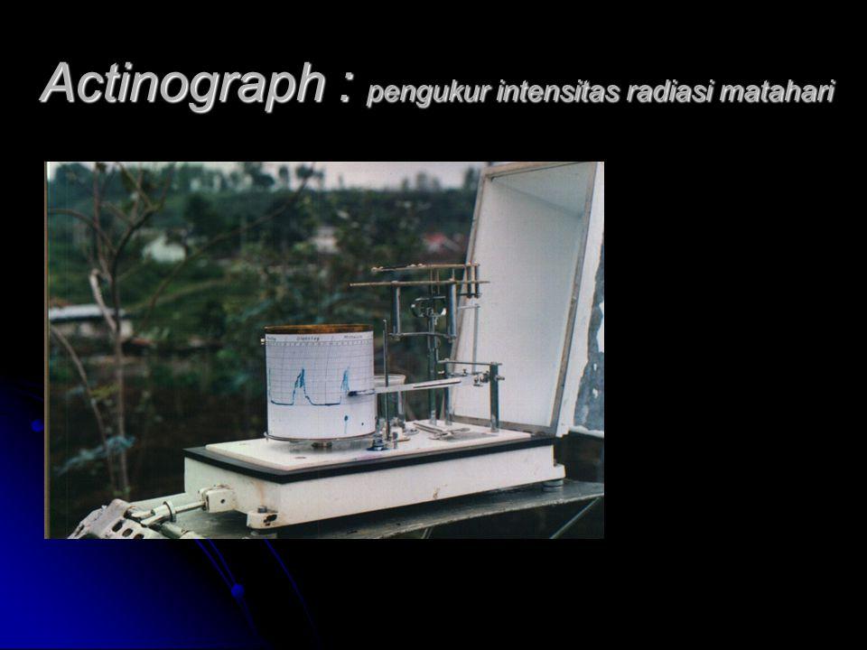 Actinograph : pengukur intensitas radiasi matahari