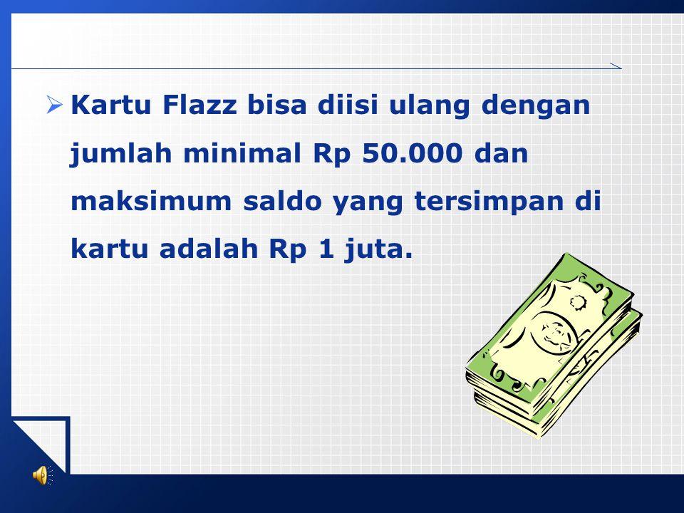 Mari Berbagi Berbagai kemudahan ditawarkan oleh kartu Flazz untuk memperlancar transaksi Anda. Kami utamakan kenyamanan dan kecepatan Anda dalam bertr