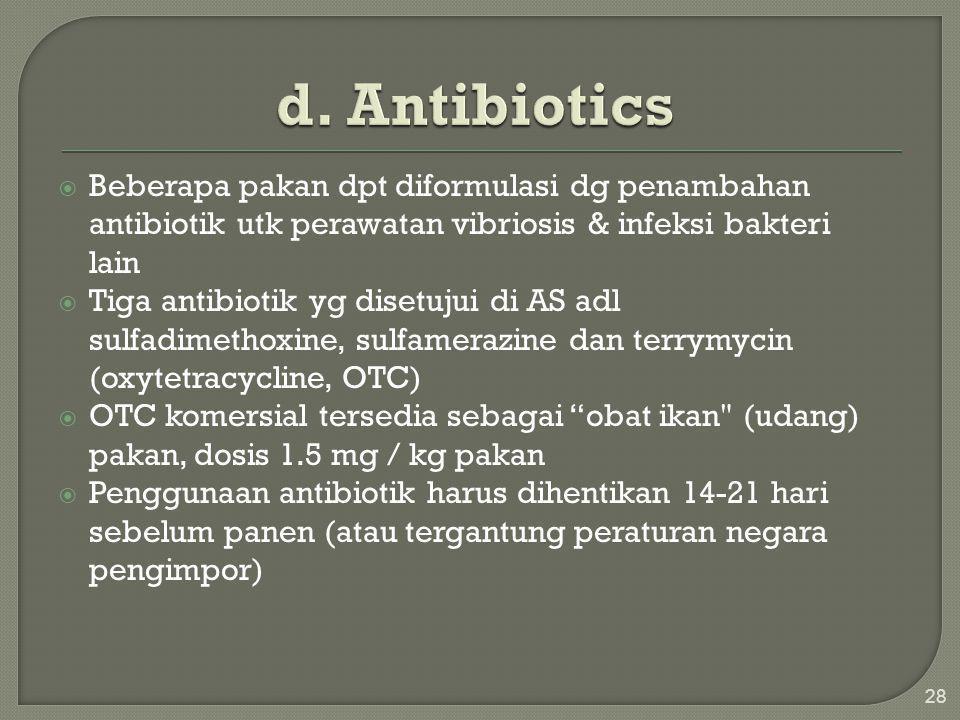  Atraktan adl bhn yg ditambahkan dlm pakan utk stimulan/perangang nafsu makan ikan (udang)  hemat biaya karena menyebabkan udang / ikan untuk makan  meningkatkan palatability  Memfasilitasi masuknya produk sampingan biasanya dicampur dalam pakan sebanyak 0,5-1,0%, terutama karena biaya yg mahal Contoh: tepung krill, Artemia tepung, minyak ikan, tepung ikan  Kadang-kadang digunakan untuk mengurangi kandungan protein pakan 29