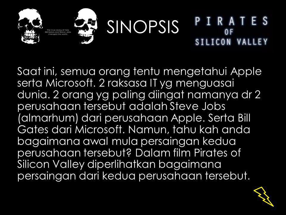 LANJUTAN… Pd film ini, diceritakan bgmn pd th 1975 Bill Gates & temannya Paul Allen mendirikan Microsoft.